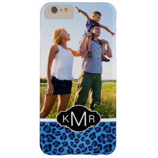 Monogram | Blue Leopard Texture Barely There iPhone 6 Plus Case