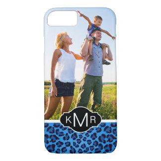 Monogram | Blue Leopard Texture iPhone 8/7 Case