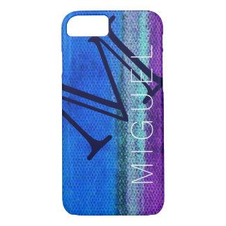 monogram bluish texture iPhone 7 case