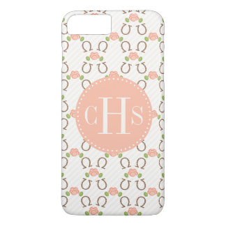 Monogram Blush Rose and Horseshoe iPhone 8 Plus/7 Plus Case