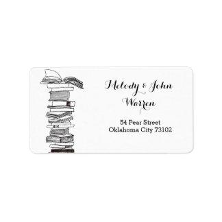 Monogram Booklover Business Address Label