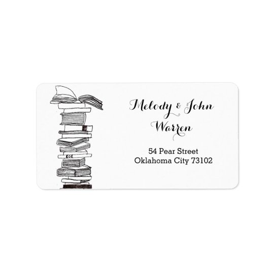 Monogram Booklover Business Address Label