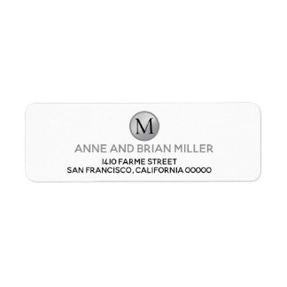 monogram bride & groom wedding white