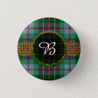 Monogram Brodie Hunting Tartan 1 Inch Round Button