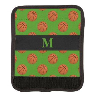 Monogram Brown Basketball Balls, Apple Green Luggage Handle Wrap