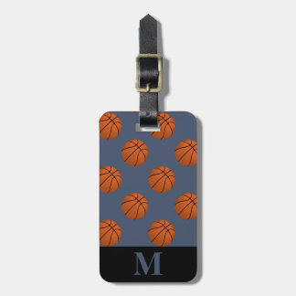 Monogram Brown Basketball Balls, Blue Jeans Luggage Tag