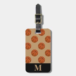 Monogram Brown Basketball Balls, Camel Brown Luggage Tag