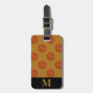 Monogram Brown Basketball Balls, Matte Gold Luggage Tag