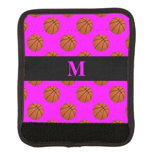 Monogram Brown Basketball Balls, Pink Luggage Handle Wrap