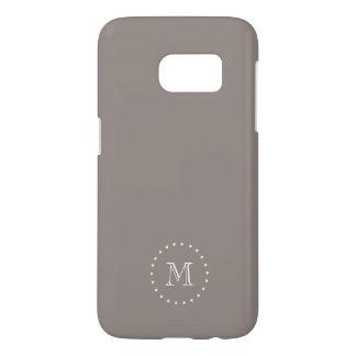 Monogram Brown Elegant Samsung Galaxy S7 Case