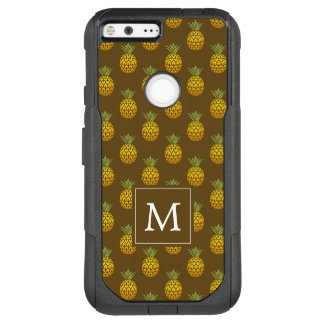 Monogram | Brown Pineapples OtterBox Commuter Google Pixel XL Case
