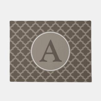 Monogram Brown Welcome Mat Doormat Rug Gift