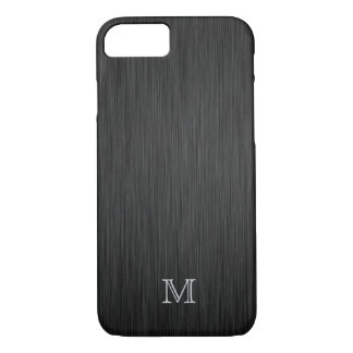 Monogram Brushed Metal Look iPhone 7 case