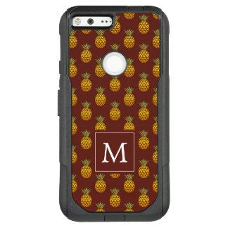 Monogram | Burgundy & Gold Pineapples OtterBox Commuter Google Pixel XL Case