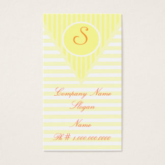 Monogram Business Business Card