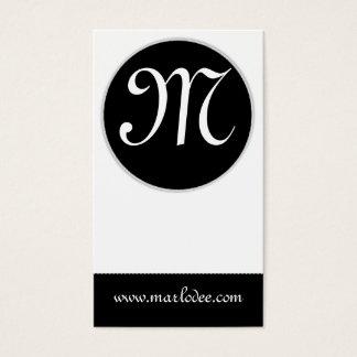 Monogram Business Card :: Black & White Minimal