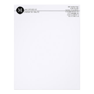 monogram Business Letterheads Letterhead