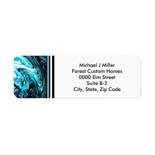 Monogram Business/Personal  Stripe Address Label
