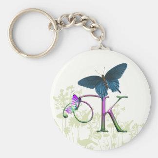 Monogram Butterfly Fantasy K Keychain