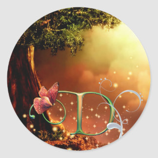 Monogram Butterfly Sticker Fantasy D