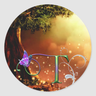 Monogram Butterfly Sticker Fantasy T