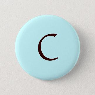 """Monogram Buttom """"C"""" 2 Inch Round Button"""