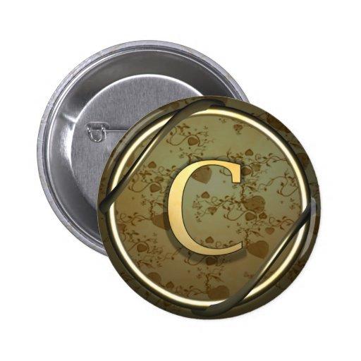 monogram c pin