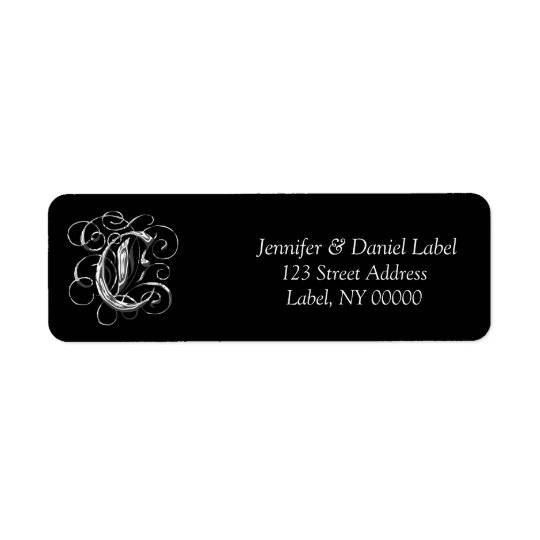 Monogram C Printable Address Label