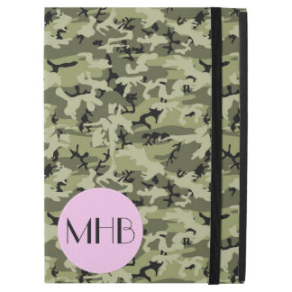 "Monogram - Camouflage Pattern - Green White Black iPad Pro 12.9"" Case"