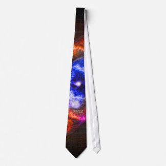 Monogram Cats Eye Nebula Tie