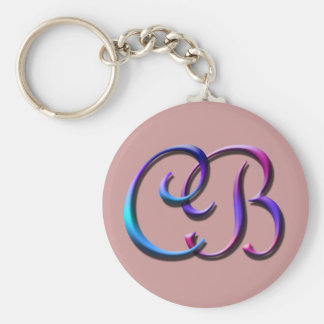Monogram CB Keychain