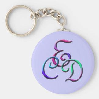 Monogram CED Keychain