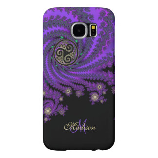 Monogram Celtic Fractal Triskele Galaxy S6 Case
