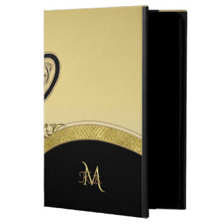 Monogram Celtic Heart in Gold and Black Powis iPad Air 2 Case