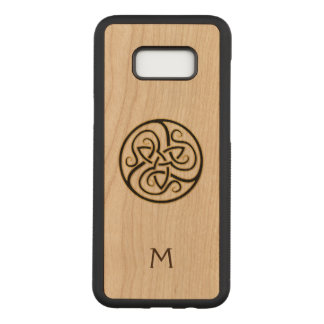 Monogram Celtic Knot Wood Galaxy S8 Case