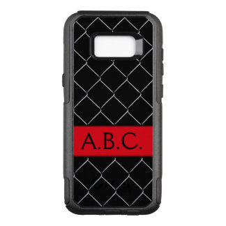 Monogram Chain Link Fence Pattern Personalizable OtterBox Commuter Samsung Galaxy S8+ Case
