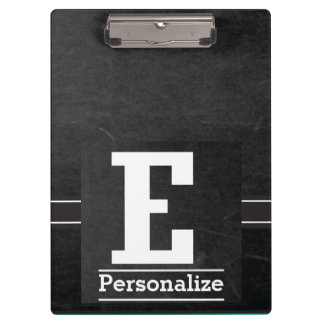 Monogram Chalkboard Style | Letter E Clipboard