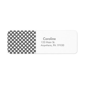 Monogram Charcoal Gray White Polka Dot Pattern