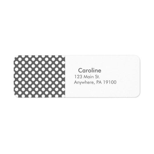 Monogram Charcoal Grey White Polka Dot Pattern