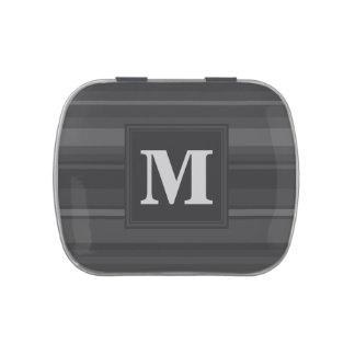 Monogram charcoal stripes