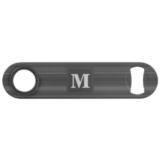 Monogram charcoal stripes bar key