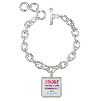 Monogram Charm Bracelet Gifts For Mom