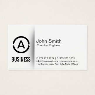 Monogram Chemical Engineer Business Card