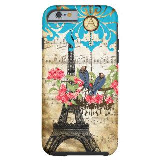 Monogram Cherry Blossom  Bird Chandelier iPhone Tough iPhone 6 Case
