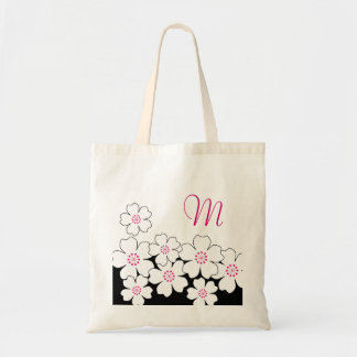 Monogram Cherry Blossom Bridesmaid Totes