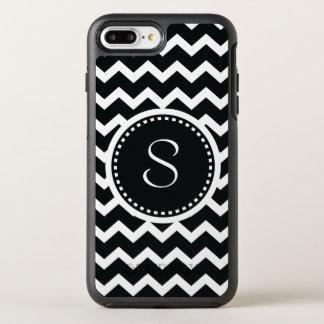 Monogram Chevron Black and White Modern OtterBox Symmetry iPhone 8 Plus/7 Plus Case