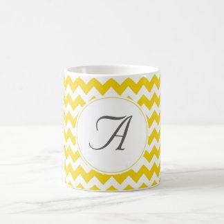 Monogram Chevron Initials Coffee Mug