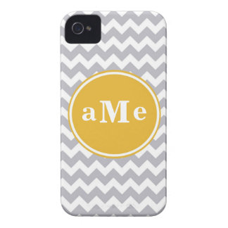 Monogram Chevron iPhone 4 Case-Mate Case