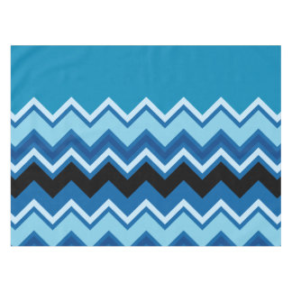 Monogram Chevron Summer Blue Cobalt Sapphire Tablecloth