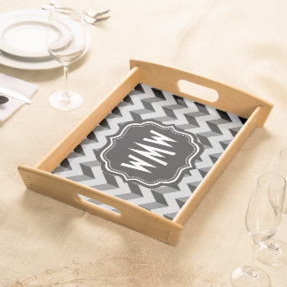 monogram,chevron,zigzag,stripes,pattern,modern,mon serving tray